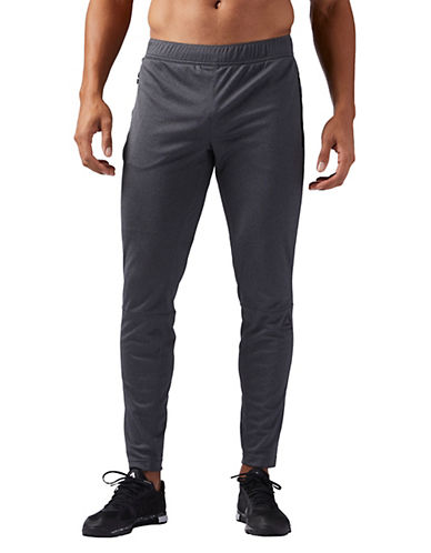 Reebok SpeedWick Knit Trackster Pants-DARK GREY-Medium 89782810_DARK GREY_Medium