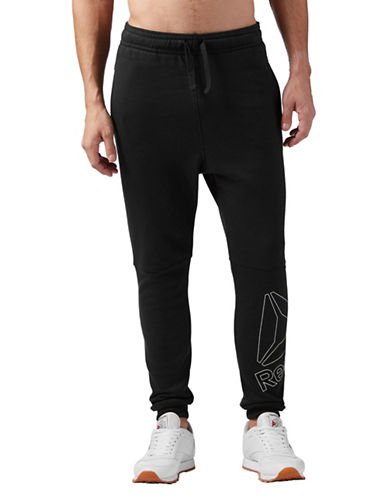 Reebok Elements Big Logo Fleece Jogger Pants-BLACK-X-Large
