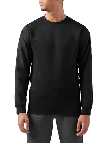 Reebok Training Supply Sweatshirt-BLACK-Small