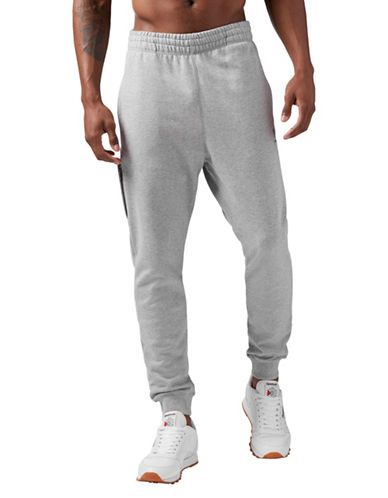 Reebok Pull-On Cotton Jogger Pants-GREY-XX-Large