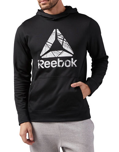 Reebok Long-Sleeve Logo Hoodie-BLACK-Medium