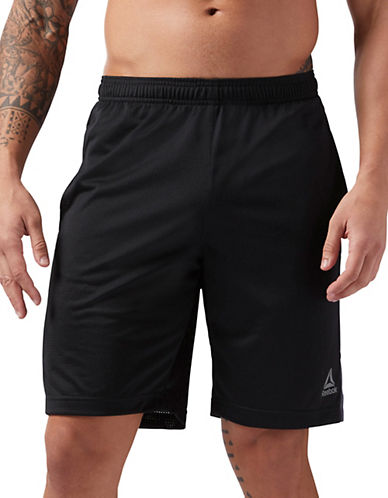 Reebok Workout-Ready Mesh Shorts-BLACK-Large 89782789_BLACK_Large