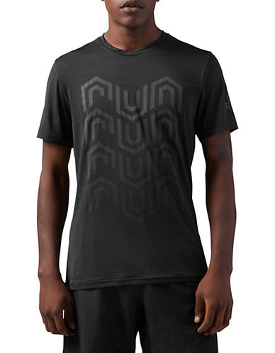 Reebok Running ACTIVChill Graphic T-shirt-BLACK-Medium 90075880_BLACK_Medium