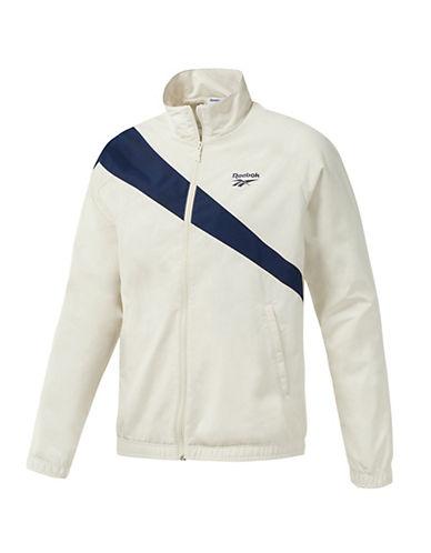 Reebok Classics Tracktop Sweater-WHITE/BLUE-Small 90081379_WHITE/BLUE_Small