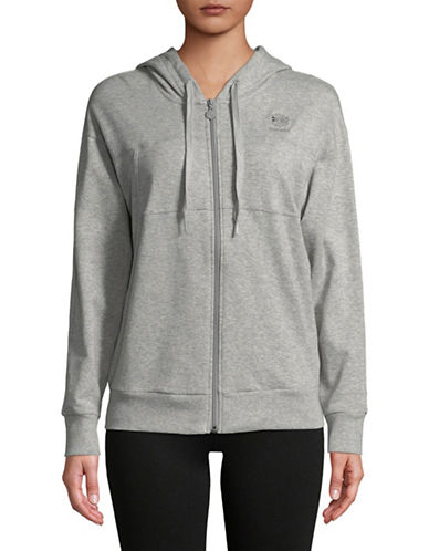 Reebok Raglan Cotton Hoodie-GREY-Large