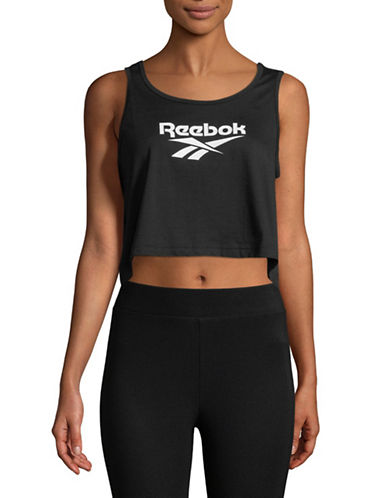 Reebok Cropped Tank Top-BLACK-Small