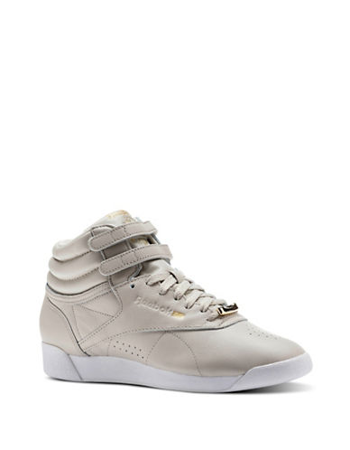 Reebok Women's Freestyle Hi-Muted Sneakers-GREY-11 89864096_GREY_11