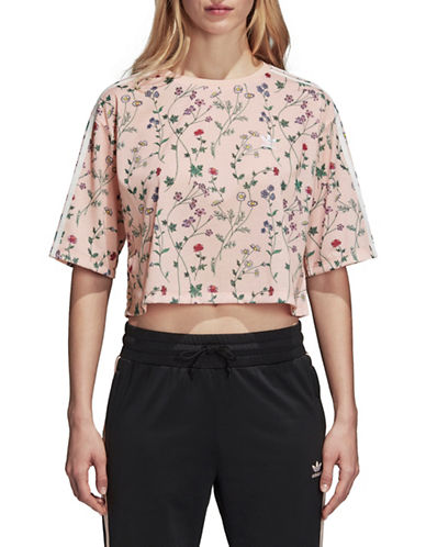 Adidas Originals Floral Cropped Tee-PINK-Medium 89979204_PINK_Medium