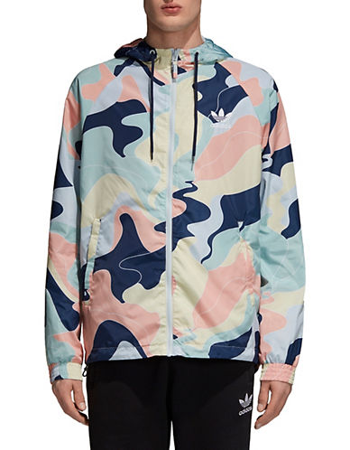 Adidas Originals Printed Windbreaker-BLUE/MULTI-XX-Large 90009105_BLUE/MULTI_XX-Large