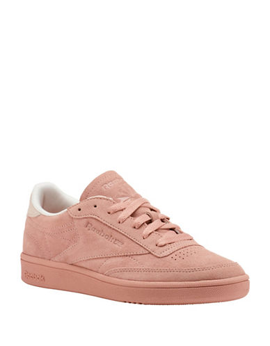 Reebok Club C Low-Cut Suede Sneakers-PALE PINK-8.5