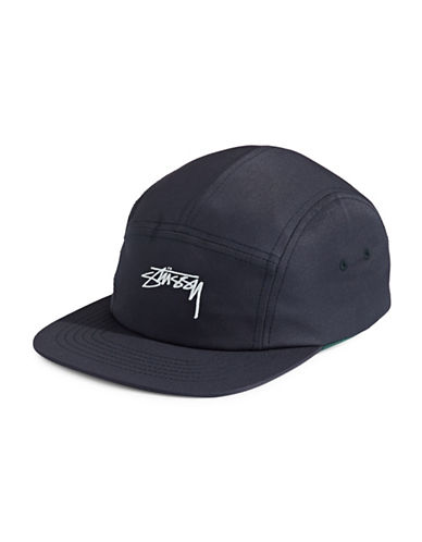 Stussy Smooth Stock Camp Six-Panel Cap-NAVY-One Size