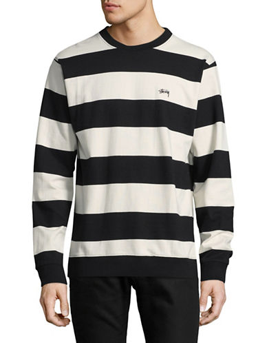 Stussy Bold Stripe Cotton Jersey Sweater-BLACK-Medium