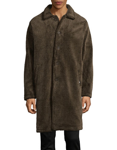 Stussy Sherpa Mac Jacket-BROWN-Medium 89299338_BROWN_Medium