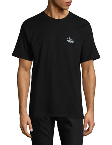 Stussy Basic Logo T-Shirt-BLACK-Small 89299384_BLACK_Small