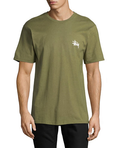 Stussy Basic Logo T-Shirt-GREEN-Medium