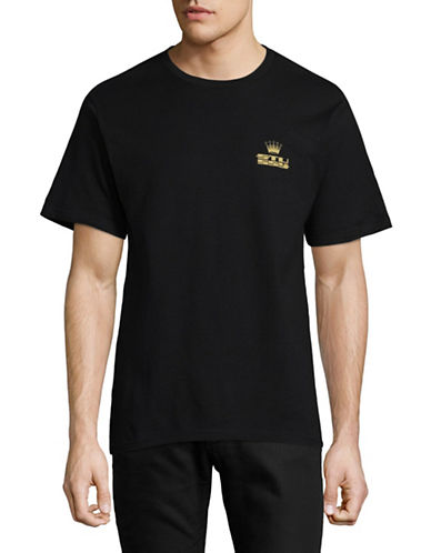 Stussy Crowned Cotton Tee-BLACK-Large