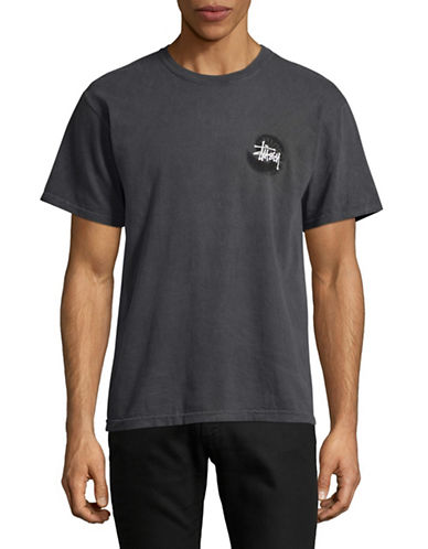 Stussy Swirl Pigment Dyed Graphic Tee-BLACK-Small