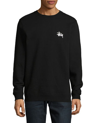 Stussy Basic Crew Neck Sweater-BLACK-Large