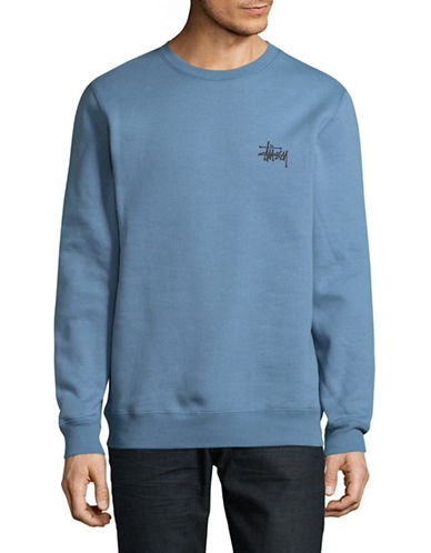 Stussy Basic Crew Neck Sweater-GREY-X-Large