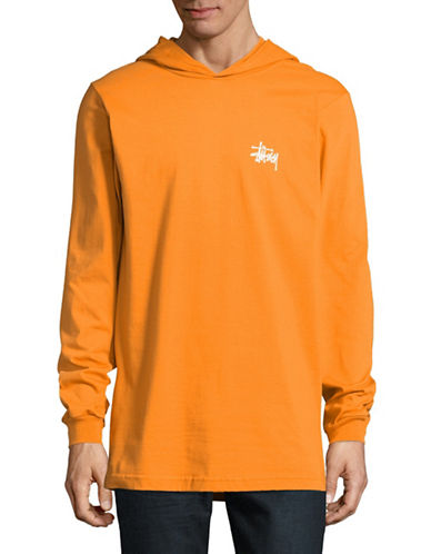 Stussy Hooded T-Shirt-ORANGE-Small