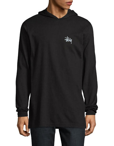 Stussy Hooded T-Shirt-BLACK-Medium