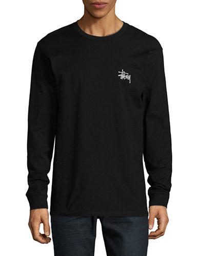 Stussy Basic Logo T-Shirt-BLACK-X-Large