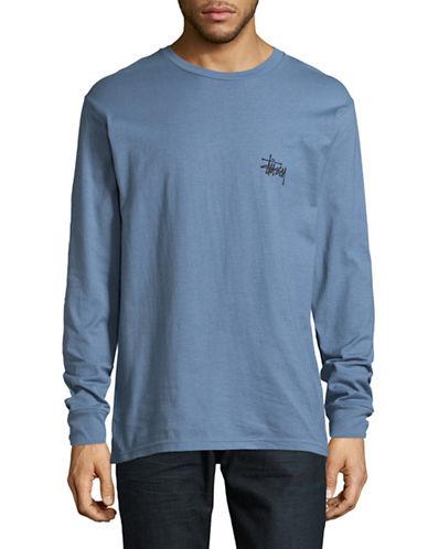 Stussy Basic Logo T-Shirt-GREY-X-Large