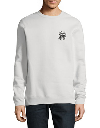 Stussy Dominos Crew Sweater-GREY-Small