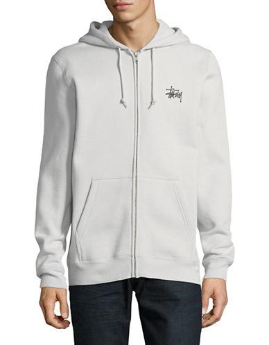 Stussy Zip Hoodie-GREY-Large
