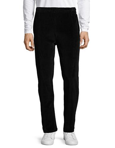 Stussy Classic Velour Pants-BLACK-Large