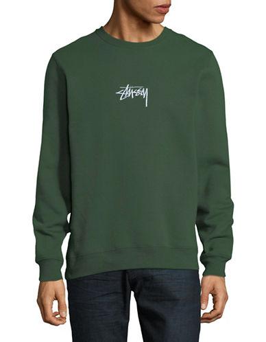 Stussy Crew Neck Sweater-GREEN-Small
