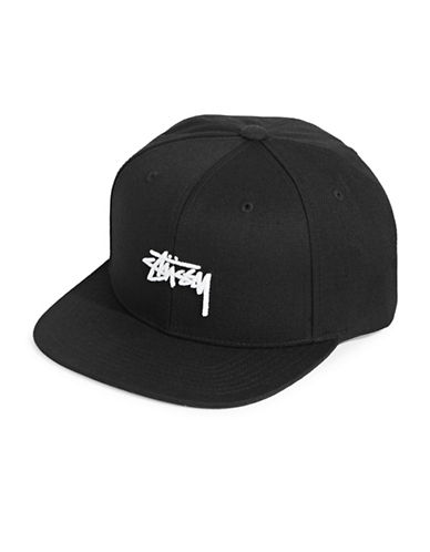 Stussy Stock Cotton Cap-BLACK-One Size