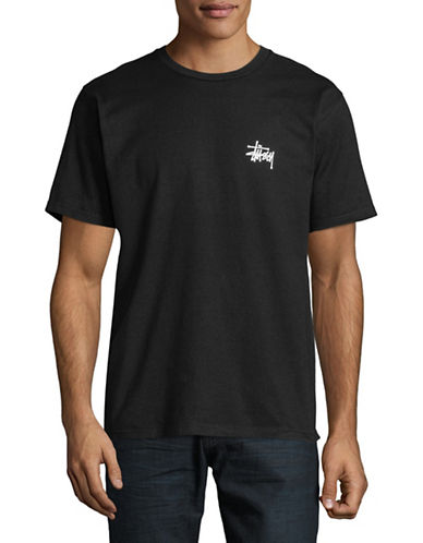 Stussy Short-Sleeve Cotton Tee-BLACK-Small 89726985_BLACK_Small