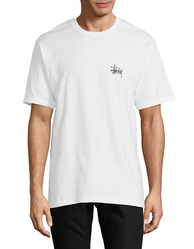 Stussy Short-Sleeve Cotton Tee-WHITE-Small