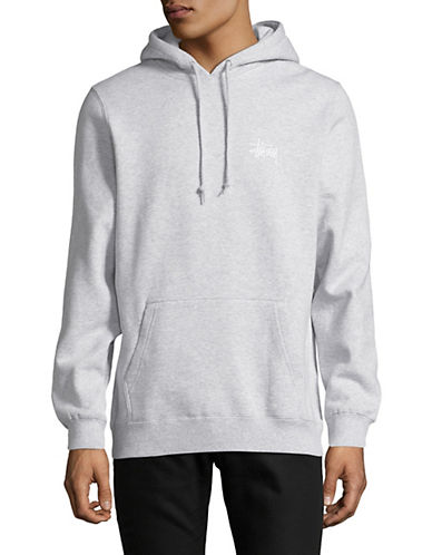 Stussy Basic Pullover Hoodie-GREY-Medium 89874610_GREY_Medium