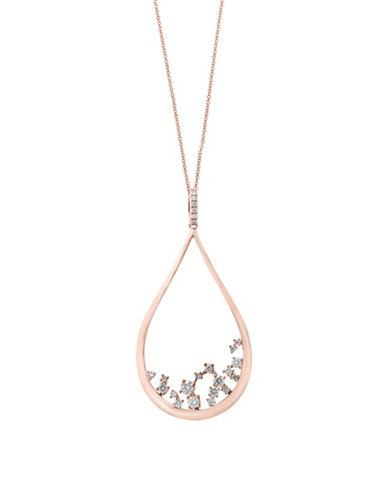 Effy 0.52 TCW Diamond 14K Rose Gold Pendant Necklace-ROSE GOLD-One Size