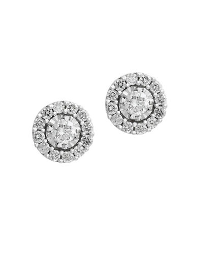 Effy 0.55 TCW Diamonds and 14K Yellow Gold Earrings-WHITE GOLD-One Size