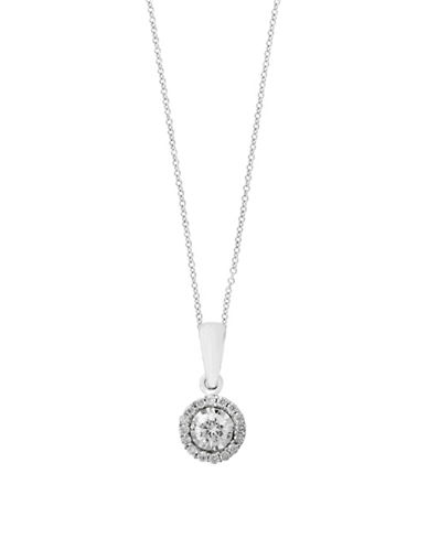 Effy 0.24 TCW Diamond and 14K White Gold Pendant Necklace-WHITE GOLD-One Size