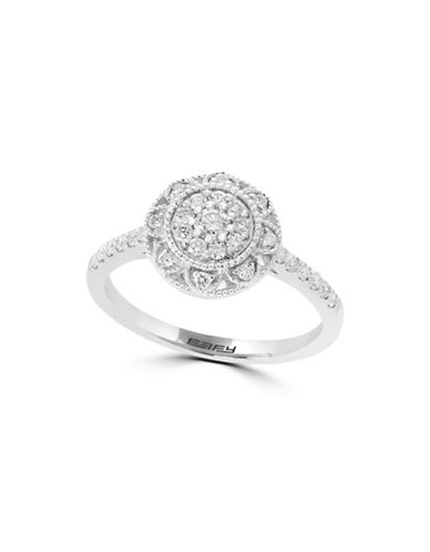 Effy 14K White Gold Ring with 0.41 TCW Diamonds-WHITE GOLD-7