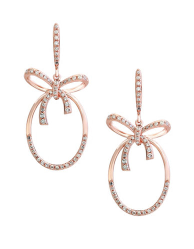 Effy 0.43 TCW Diamonds and 14K Rose Gold Drop Earrings-ROSE GOLD-One Size