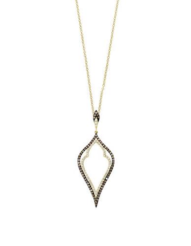 Effy 14K Yellow Gold Pendant Necklace with 0.55TCW Diamonds, Espresso Diamonds-YELLOW GOLD-One Size
