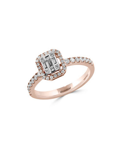 Effy 0.5 TCW Diamond and 14K Rose Gold Ring-ROSE GOLD-7