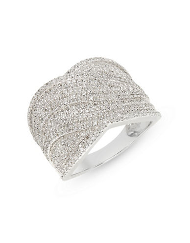 Effy Sterling Silver Ring with 0.97 TCW Diamonds-WHITE-7