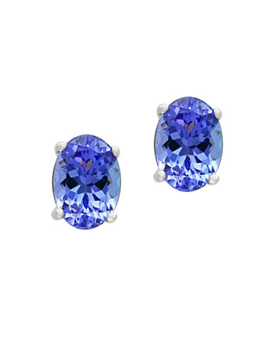 Effy Tanzanite and 14K White Gold Oval Stud Earrings-TANZANITE-One Size
