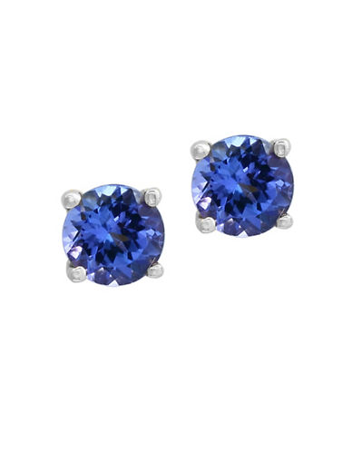 Effy Tanzanite and 14K White Gold Round Stud Earrings-TANZANITE-One Size