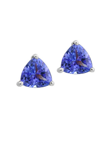 Effy Tanzanite and 14K White Gold Triangle Stud Earrings-TANZANITE-One Size