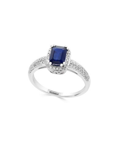 Effy Diamonds, Sapphire and 14K White Gold Ring-SAPPHIRE-One Size