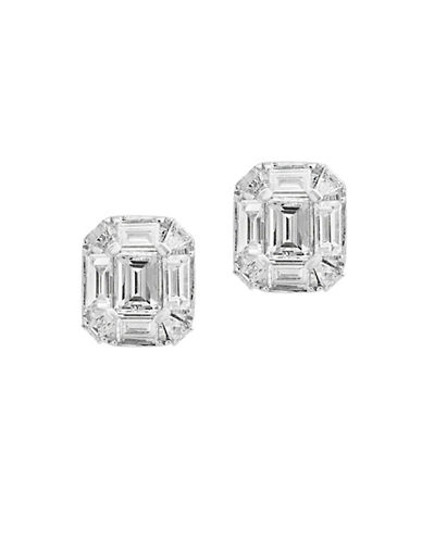 Effy 14K White Gold Octagon Stud Earrings with 0.57 TCW Diamonds-DIAMOND-One Size