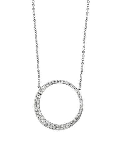 Effy 14K White Loop Pendant Necklace with 0.29 TCW Diamond-WHITE GOLD-One Size