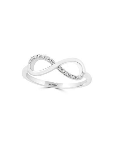 Effy 14K White Gold Ring with 0.06TCW Diamonds-WHITE GOLD-7
